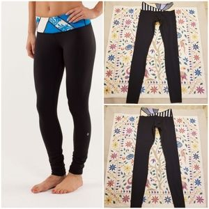 Lululemon Wunder Under Pants with Colorblock waist